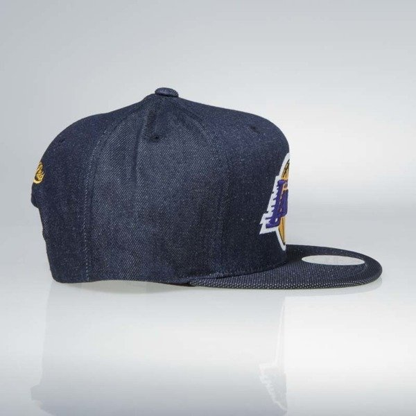 Cap Mitchell & Ness snapback Los Angeles Lakers denim Raw Denim 3T PU