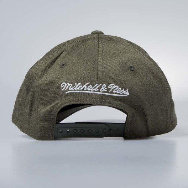 Cap Mitchell & Ness snapback Los Angeles Lakers olive Flexfit 110
