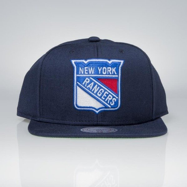 8221acebe19973 Cap Mitchell & Ness snapback New York Rangers navy Wool Solid / Solid 2 |  Bludshop.com