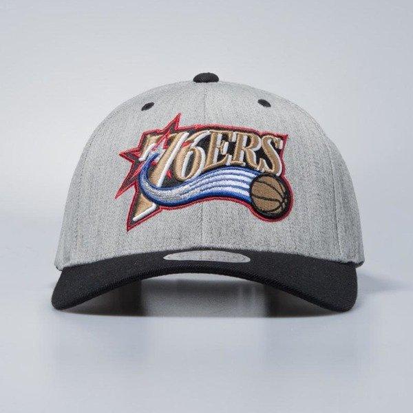a2ee313fda5 Cap Mitchell   Ness snapback Philadelphia 76ers grey   black Team Logo  2-Tone