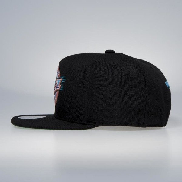 Cap Mitchell & Ness snapback Utah Jazz black Wool Solid / Solid 2