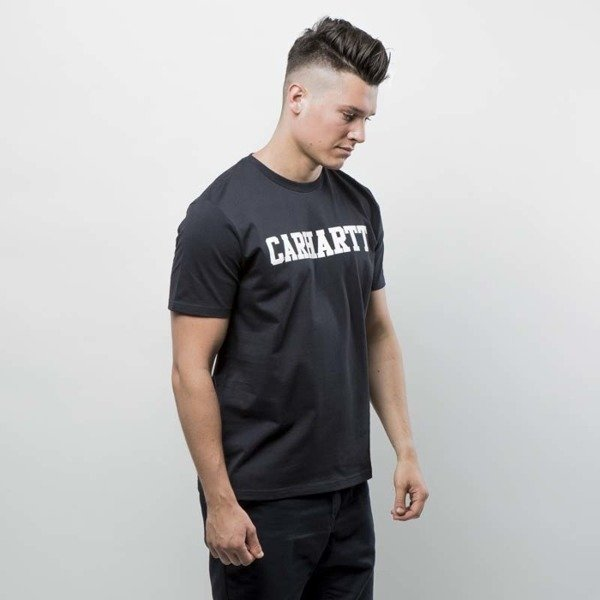 Carhartt WIP College T-Shirt ash dark navy / white
