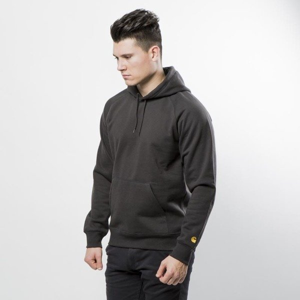 Carhartt WIP Hooded Chase Sweat asphalt / gold