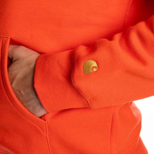 Carhartt WIP Hooded Chase Sweat safety orange/gold