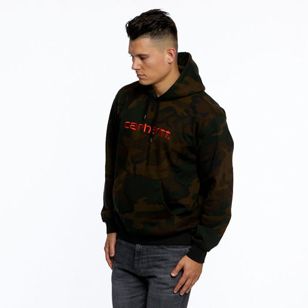 Carhartt WIP Hooded Division Sweat camo evergreen/black orange