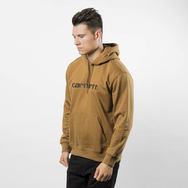 Carhartt WIP Hooded Division Sweat hamillton brown / black
