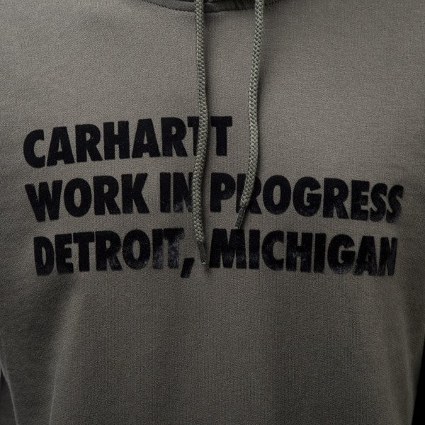 Carhartt WIP sweatshirt Hooded Bold Type cypress / black