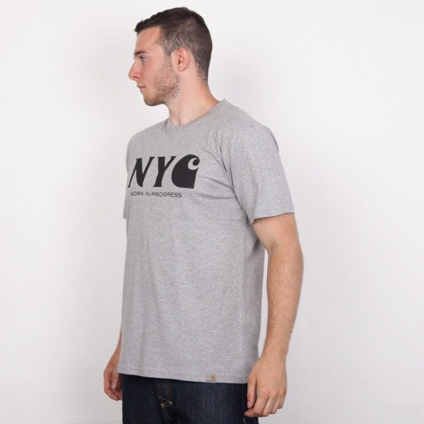Carhartt WIP t-shirt NYC grey heather / black