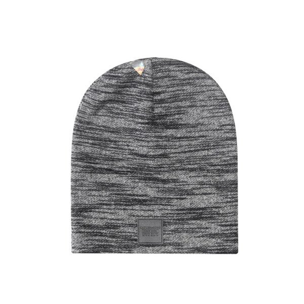 Cayler & Sons BLACK LABEL Patched Slouch Beanie black-grey knit BL-CAY-AW16-BN-03