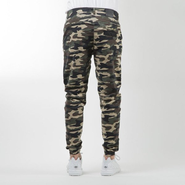 Cayler & Sons BLACK LABEL spodnie Moto Distrassed Jogger woodland  WL-CAY-SU16-AP-11-01