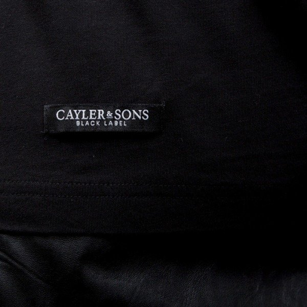 Cayler & Sons BLACK LABEL t-shirt V$A Long black / white (BL-CAY-SS15-AP-11-01)