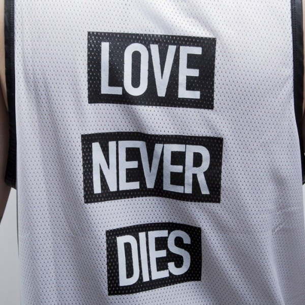 Cayler & Sons BLACK LABEL tank top Hood Love Mesh Jersey white / black (CAY-SS15-AP-19-01)