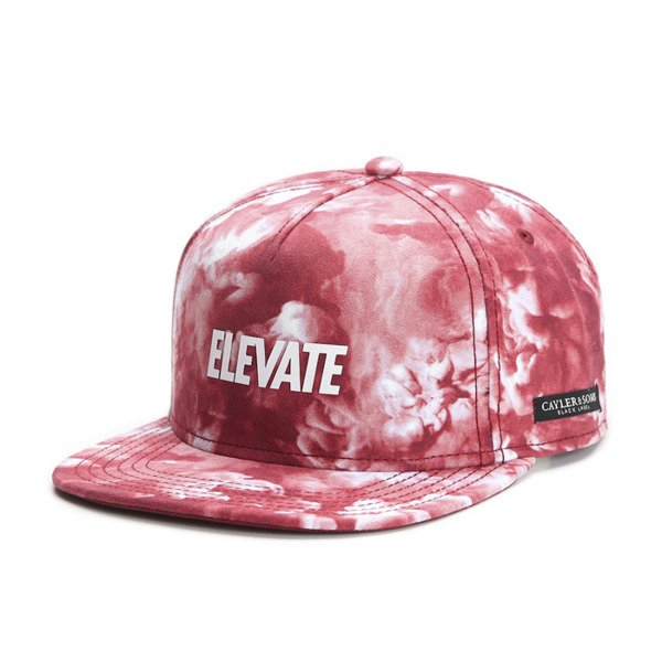 Cayler & Sons Black Label snapback Elevate Cap red / mc / white (BL-CAY-SS16-08-01)