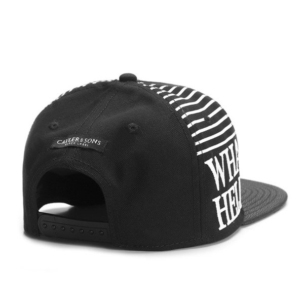Cayler & Sons Black Label snapback What If Cap black / black stingray / white (BL-CAY-SS16-15)