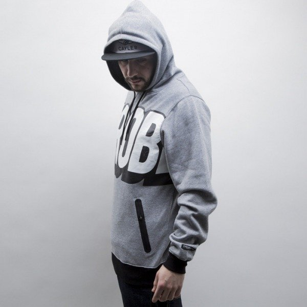 Cayler & Sons Black Label sweatshirt Mo Money Hoody grey heather / white / black (BL-CAY-SS15-AP-05-01)