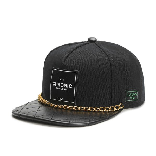 Cayler & Sons Green Label snapback Cali Love Cap black / white / gold (GL-CAY-SS16-03-01)