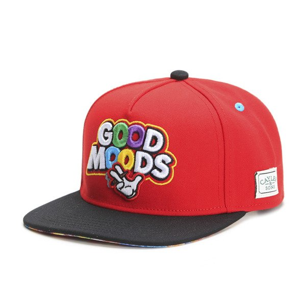 Cayler & Sons Green Label snapback Good Moods Cap red / black / mc (GL-CAY-SS16-10)