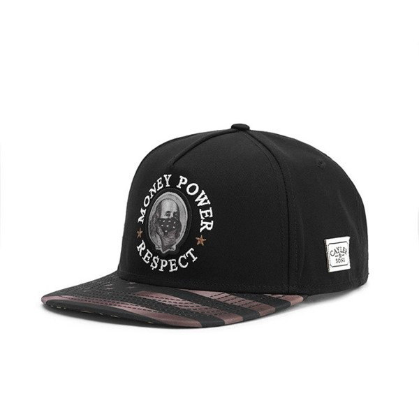 Cayler & Sons cap White Label Money Power Respect Cap black / gold / white