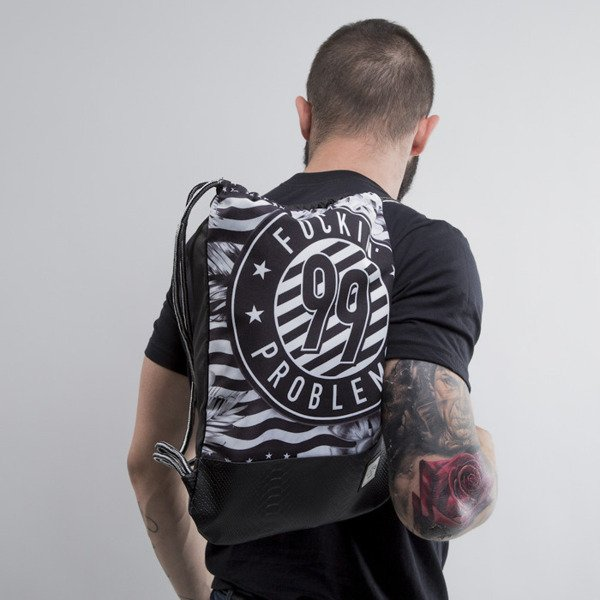 Cayler & Sons gym bag 99 FCKN Problems black / white  (CAY-SU15-GB-03-OS)