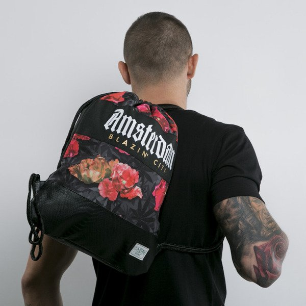 Cayler & Sons gym bag Amsterdam black / tulip camo (GL-CAY-AW15-GB-01-OS)