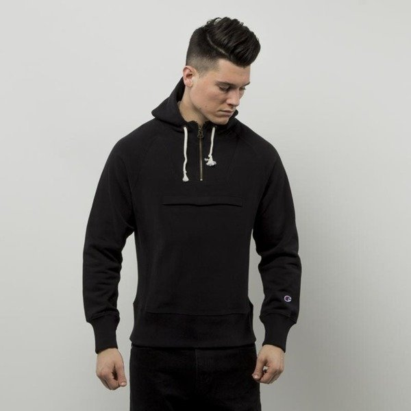 Champion sweatshirt Half Zip Hooded black 209752S16-2175