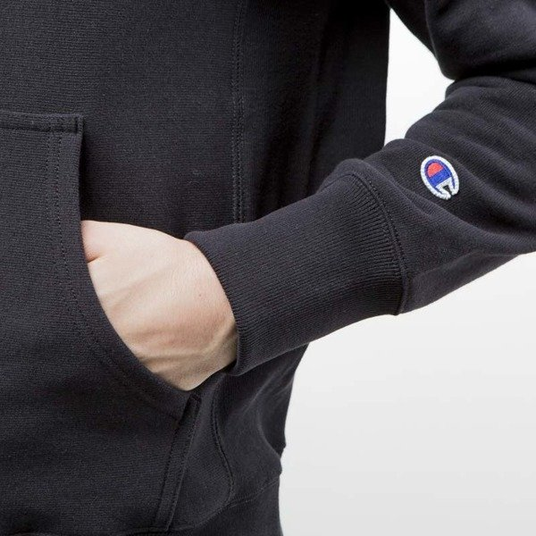 Champion sweatshirt Logo hoody black 209758-2175