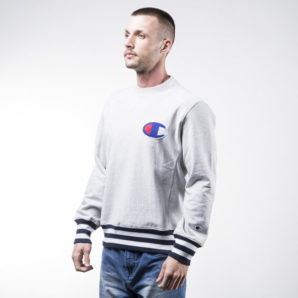 Champion sweatshirt Neck crewneck light heather grey (209762-8856)