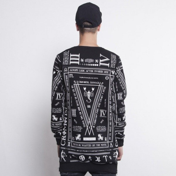 Criminal Damage sweatshirt Scorpion Long black