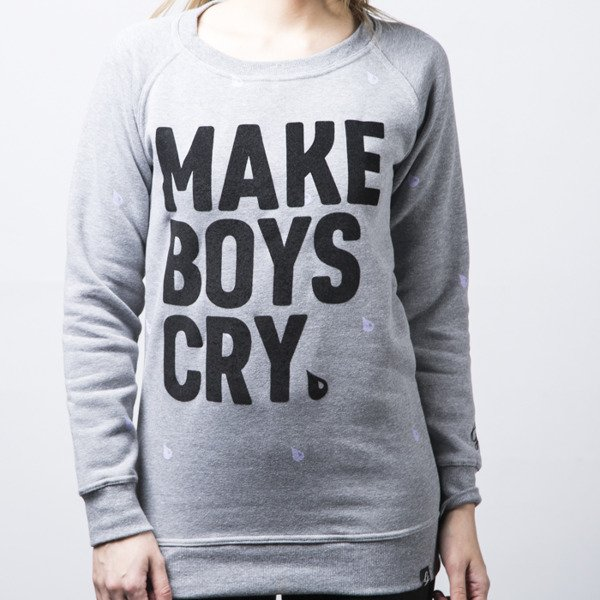 Diamante GH Crewneck Make Boys Cry grey