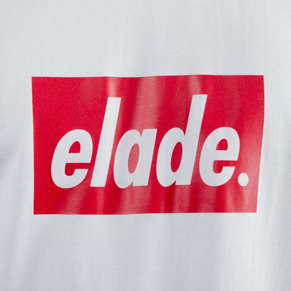 Elade T-shirt Box heather white / red