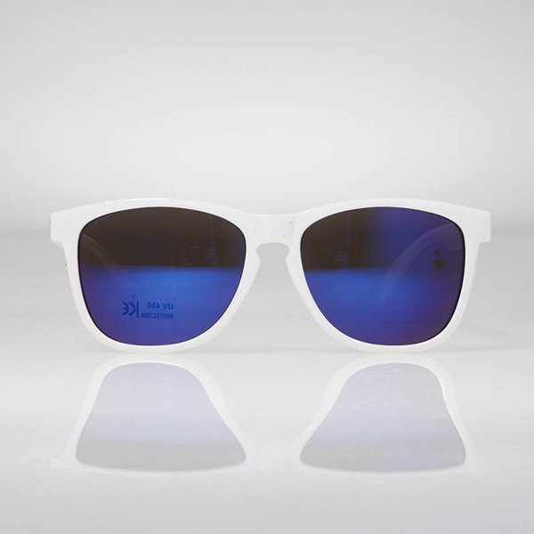 Glassy Sunhaters Sonnenbrille Deric white blue mirror