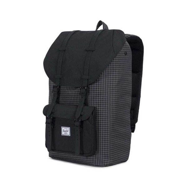 a74b71d487 Herschel Little America Backpack black gridblack rubber 10014-01579 ...