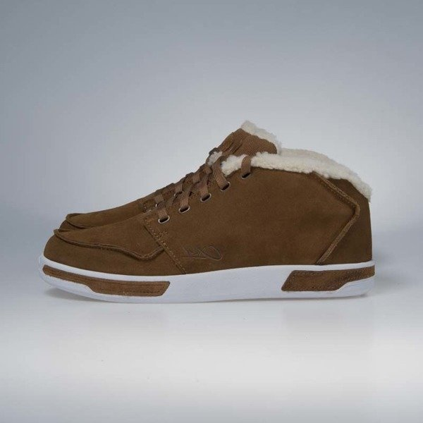 K1X sneakerboots Meet The Parents Leather dark honey / white