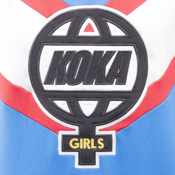 KOKA sweatshirt crewneck The Globe blue / white WMNS