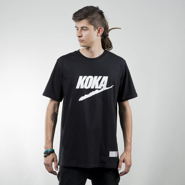 Koka t-shirt Fake black