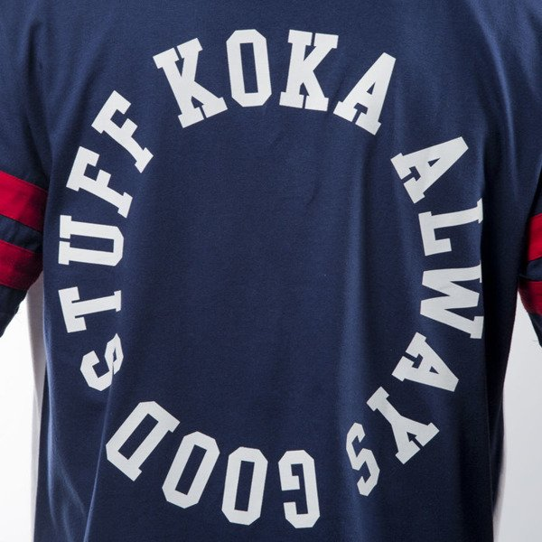Koka t-shirt Hall navy / white