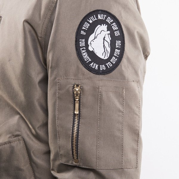 Life/Stab jacket Join or Die Bomber olive
