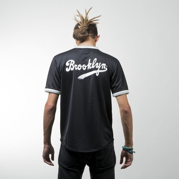 Majestic Athletic Kabor Vneck Poly Tee Brooklyn Dodgers black MBK2373DB