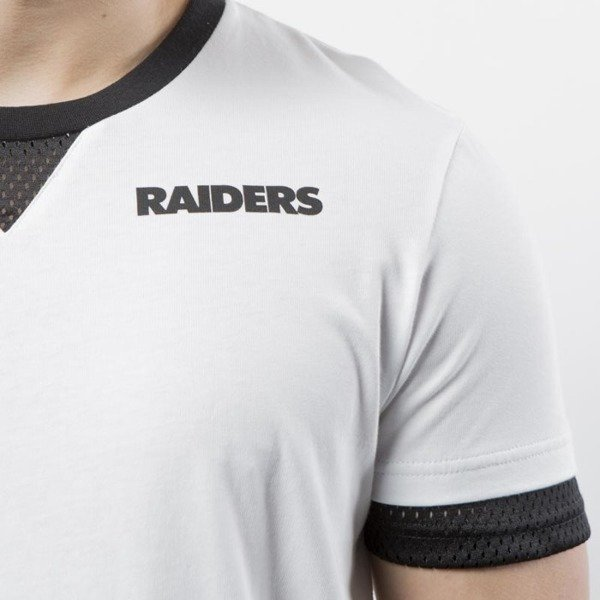Majestic Athletic Oakland Raiders Cotton / Mesh Mock Layer T-shirt white MOR3788WB