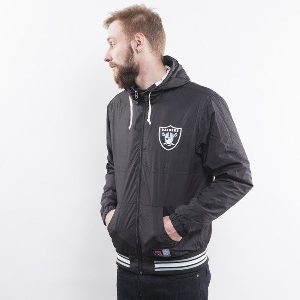 Majestic jacket Oakland Raiders black Hooded Perforated Windrunner (A6ORA6511BLK001)
