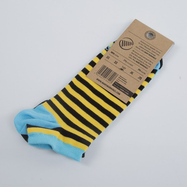 Many Mornings socks Pineapples Low light blue / black