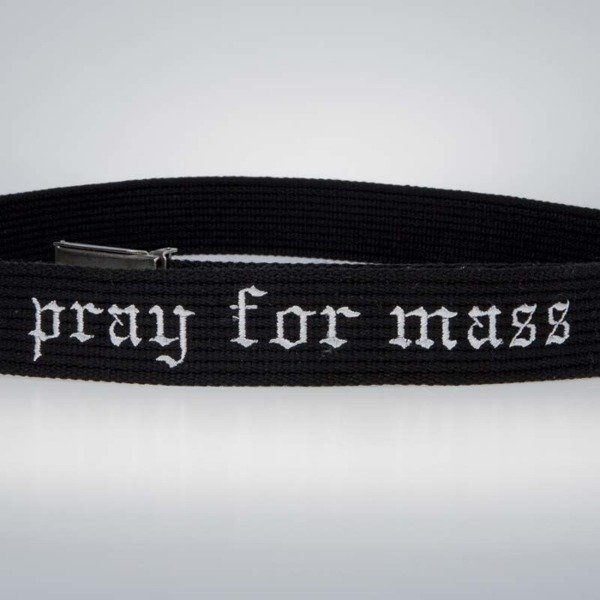 Mass Denim Plate Belt black