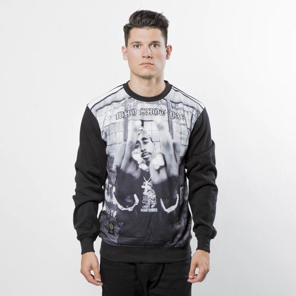 Mass Denim Sweatshirt Crewneck Who Shot Ya ? black