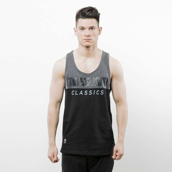 Mass Denim Tank Classics Cut black / dark heather grey SS 2017