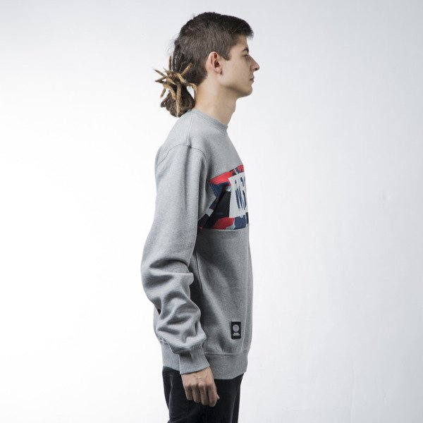Mass Denim sweatshirt Battle crewneck light heather grey