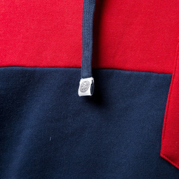 Mass Denim  sweatshirt Pocket Base hoody red / navy
