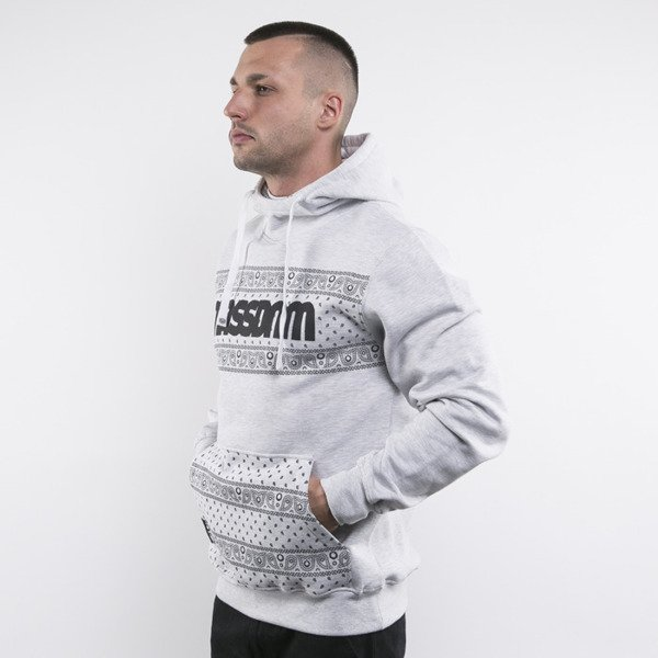 Mass Denim sweatshirts Compton Hoody light heather grey