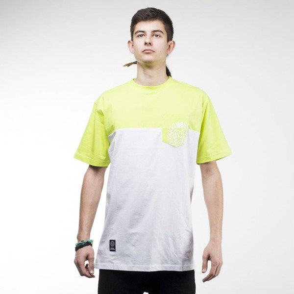 Mass Denim t-shirt Pocket Base white / toxic green