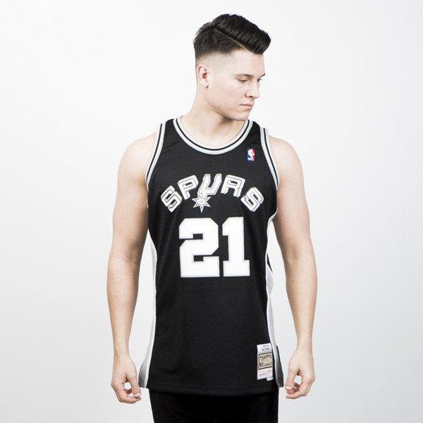 more photos c13d2 227d0 Mitchell & Ness San Antonio Spurs #21 Tim Duncan black/white Swingman Jersey
