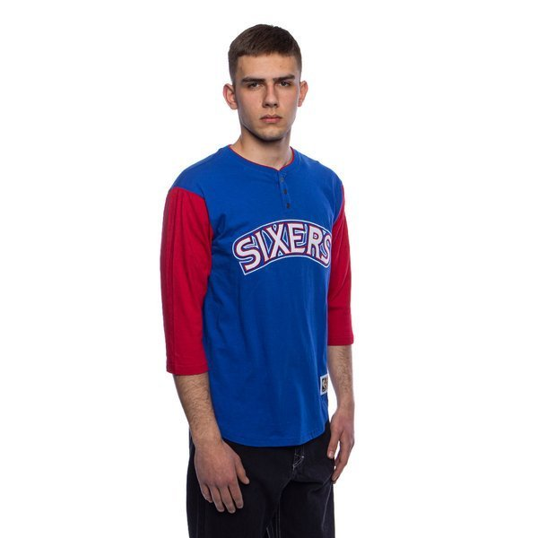 Mitchell & Ness T-shirt Philadelphia 76ers royal Franchise Player Henley